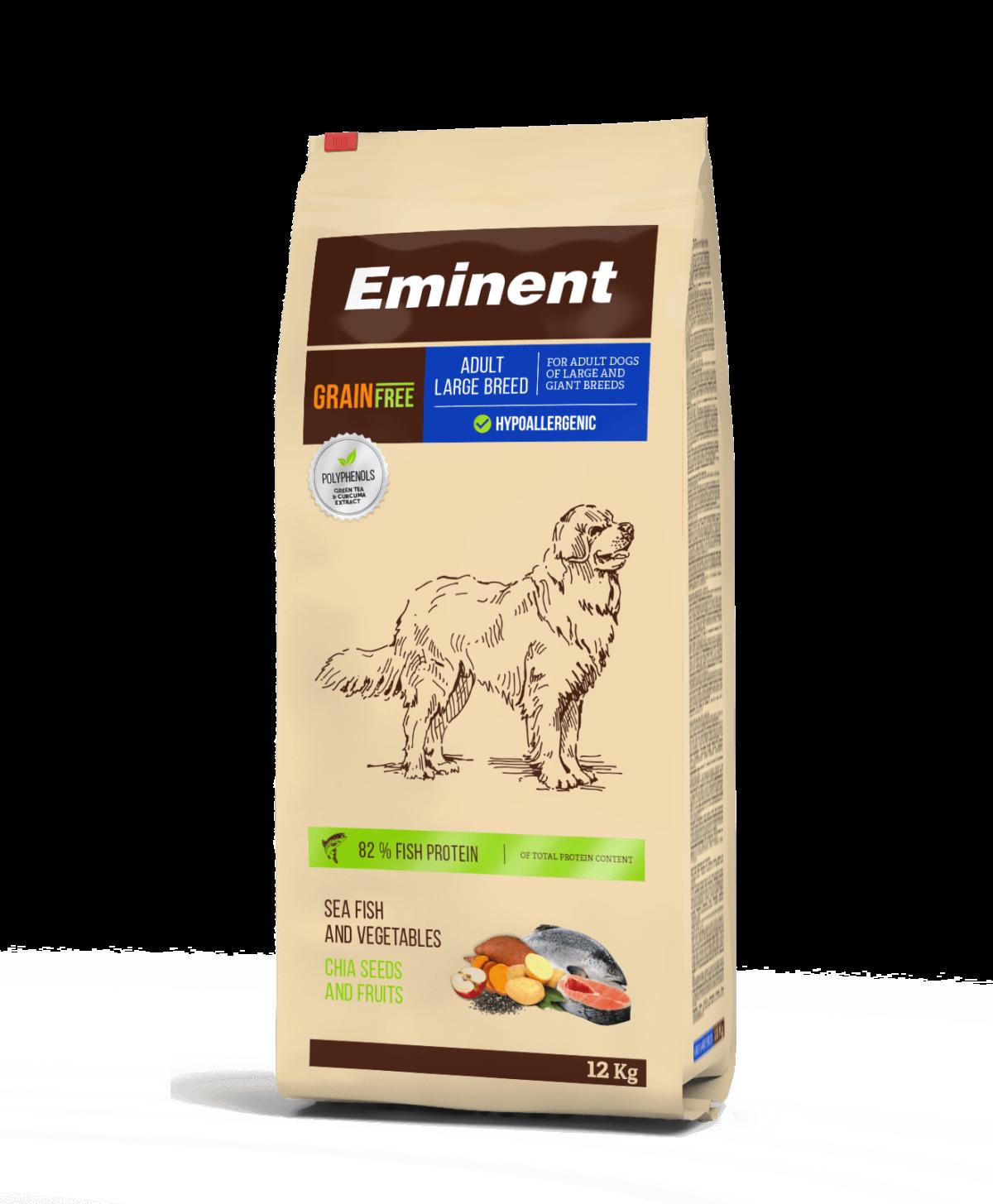 Eminent PLATINUM teraviljavaba täistoit suurt tõugu koertele 12kg