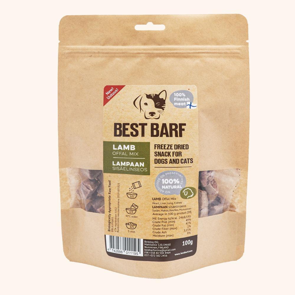 Best Barf külmkuivatatud lamba organite mix maiused 100g