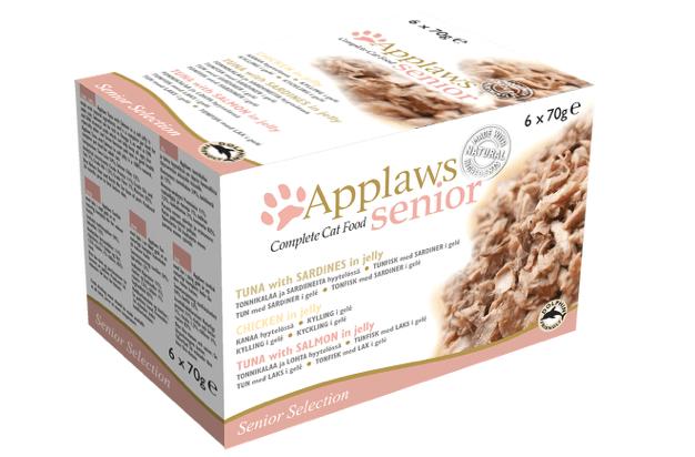 Applaws konserv kanaga tarretises 7+ eakatele kassidele 70g