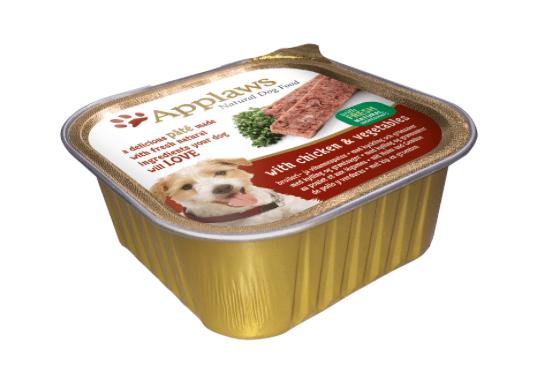 Applaws pasteet kana ja köögiviljadega tarretises koertele 150g