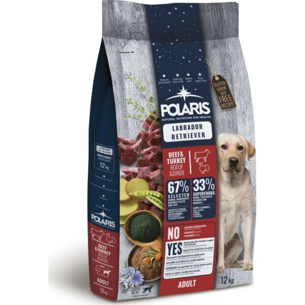 Polaris teraviljavaba täissööt looma- ja kalkunilihaga labrador retriiveritele 2,5kg