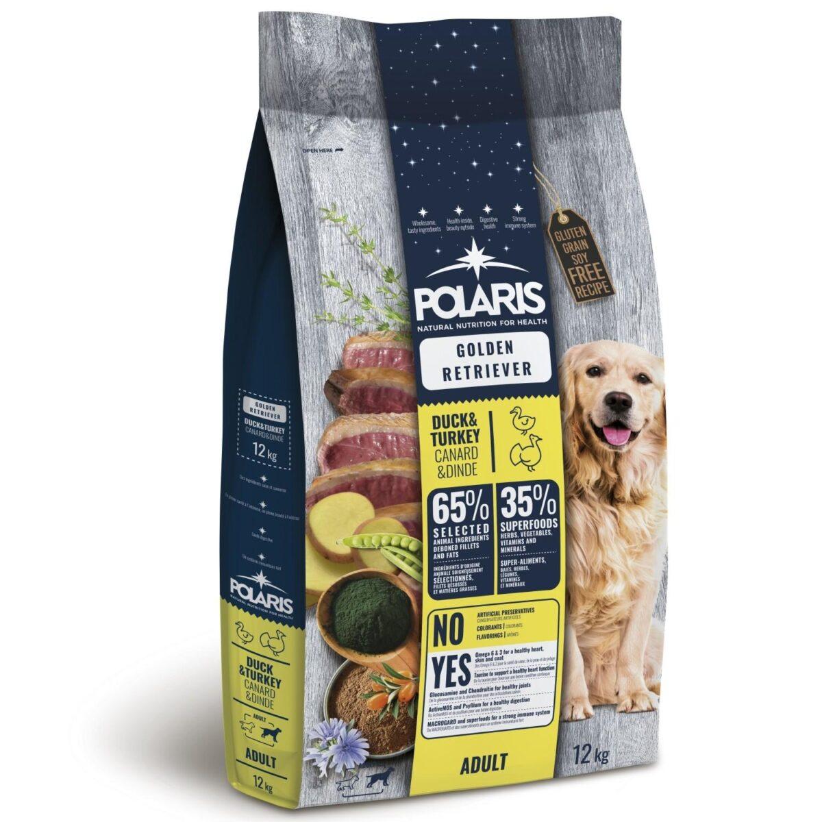 Polaris teraviljavaba täissööt pardi- ja kalkunilihaga kuldsetele retriiveritele 2,5kg