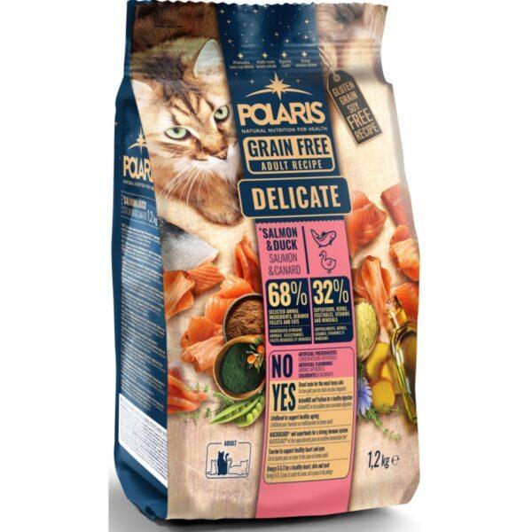 Polaris teraviljavaba täissööt pardiliha ja lõhega kassidele 1,2kg
