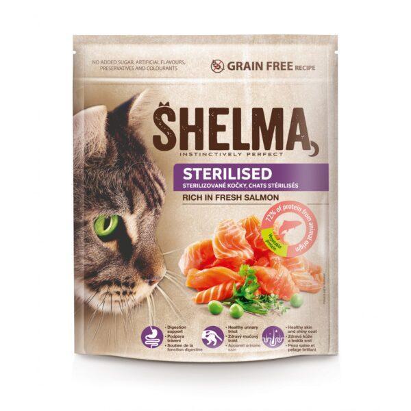 Šhelma teraviljavaba täissööt värske lõhega steriliseeritud kassidele 750g