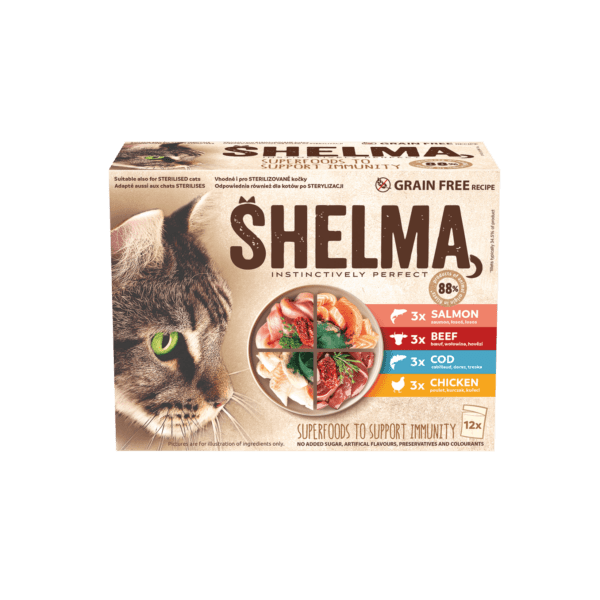 Šhelma kassi einekotikeste valik liha ja kalaga 12x85g