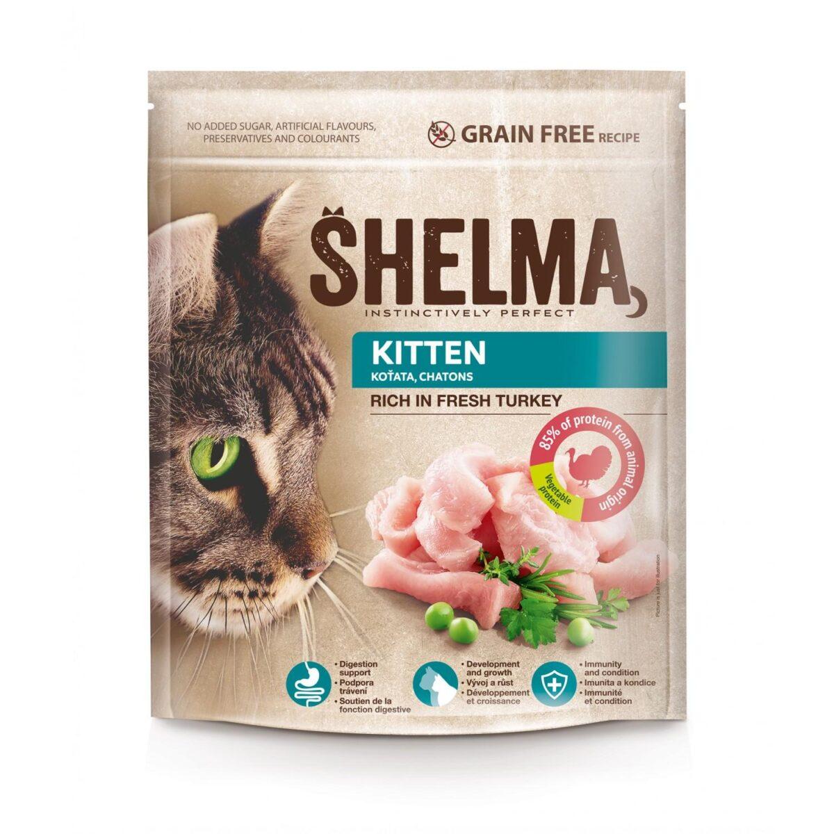 Šhelma teraviljavaba täissööt värske kalkunilihaga kassipoegadele 750g