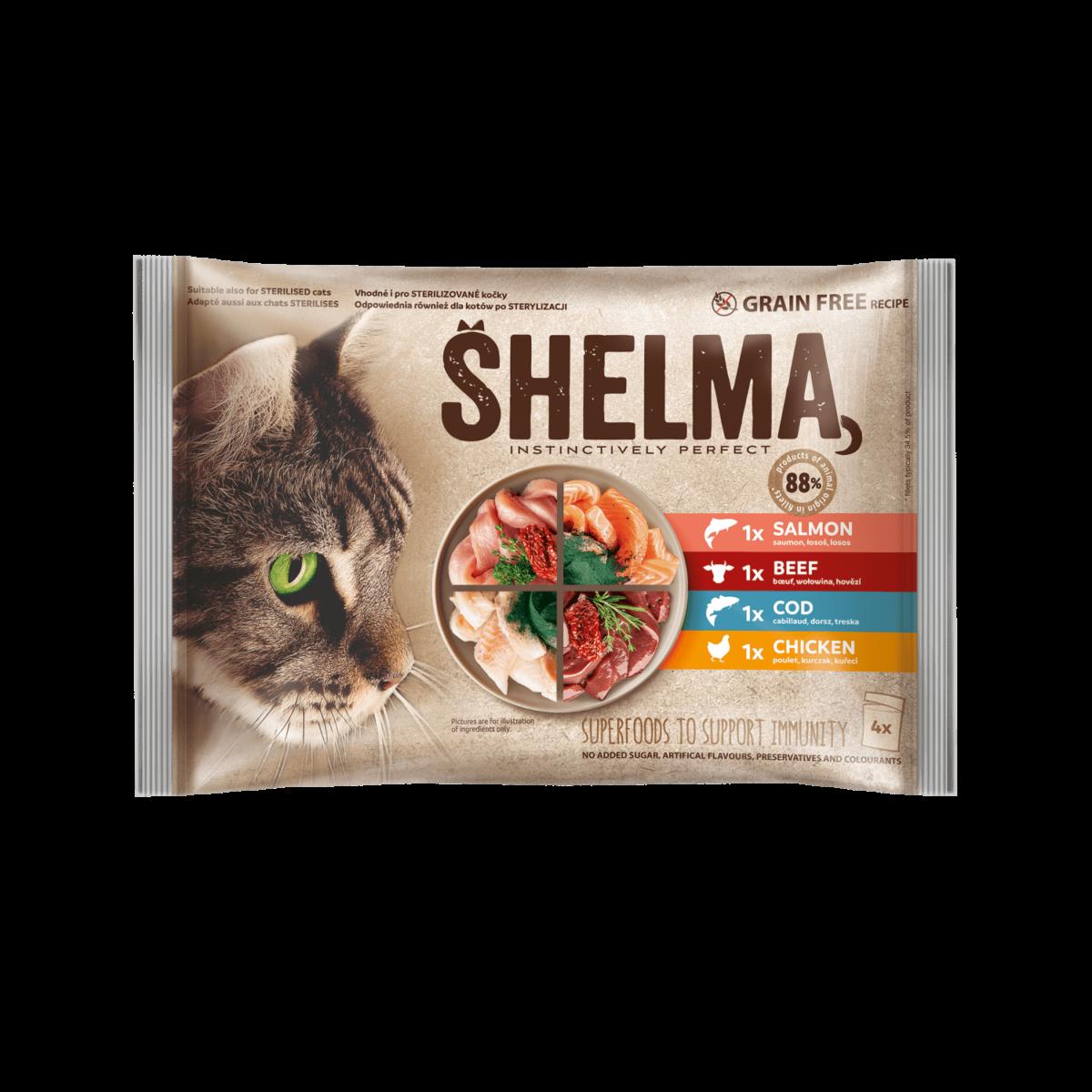 Šhelma kassi einekotikeste valik liha ja kalaga 4x85g