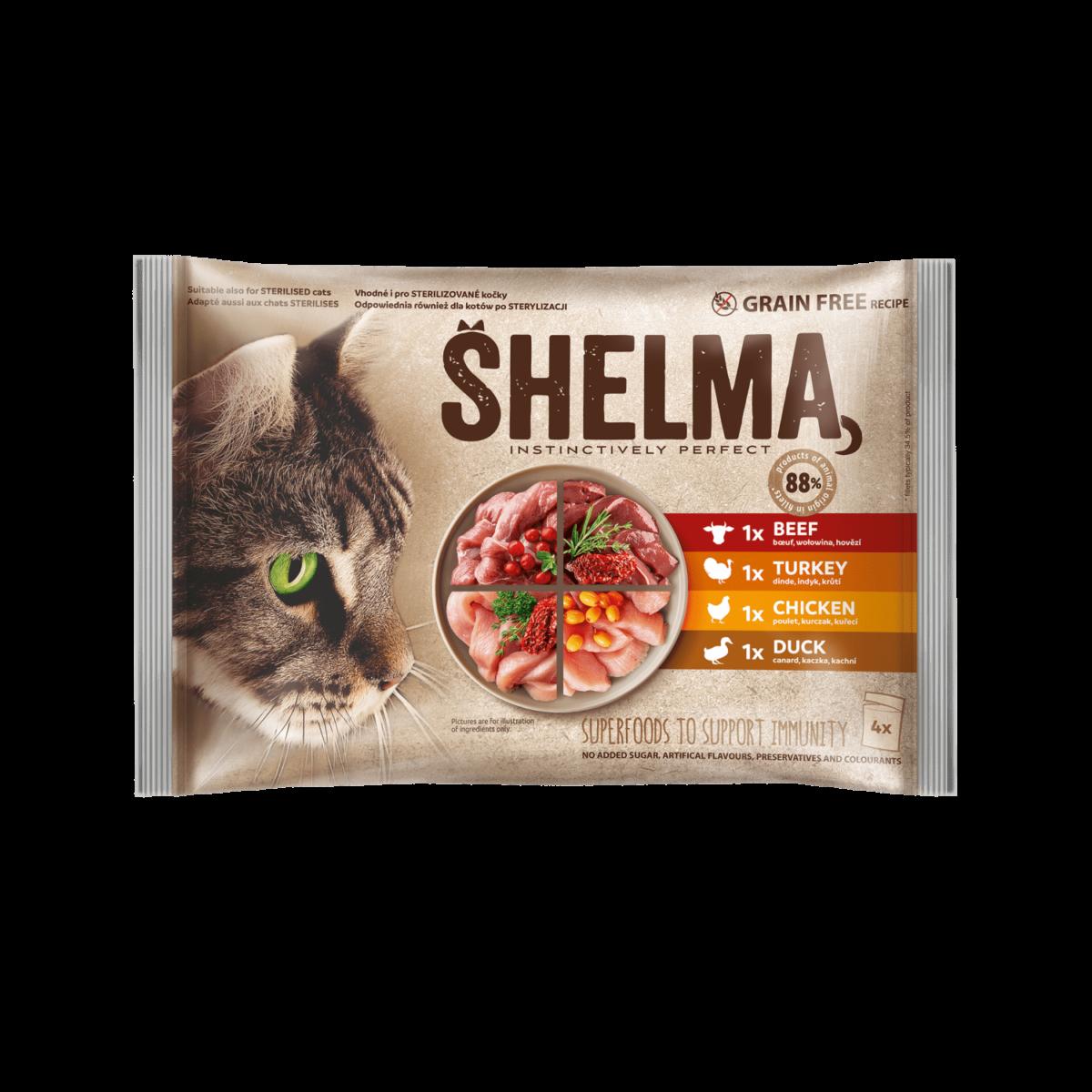 Šhelma kassi einekotikeste valik lihaga 4x85g