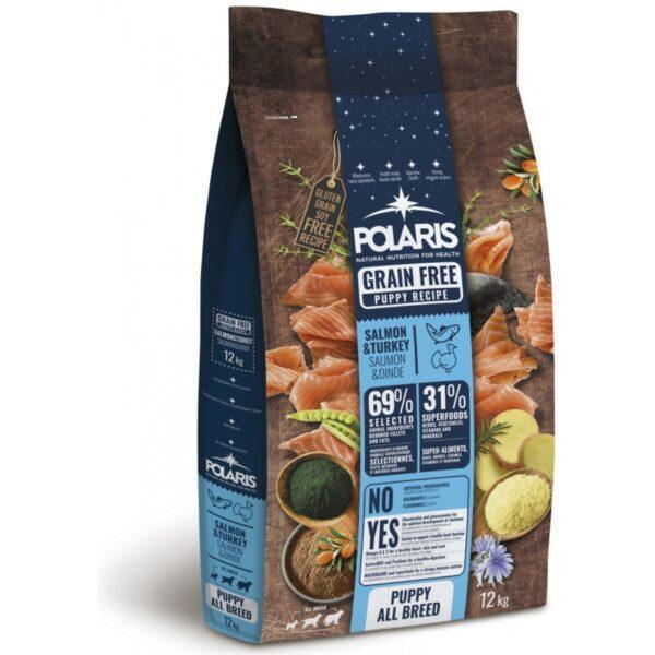 Polaris teraviljavaba täissööt lõhe ja kalkunilihaga kutsikatele 2,5kg