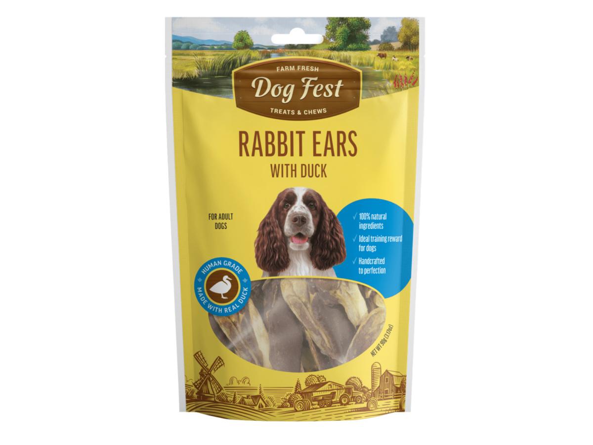 Dog fest rabbit ears with duck
