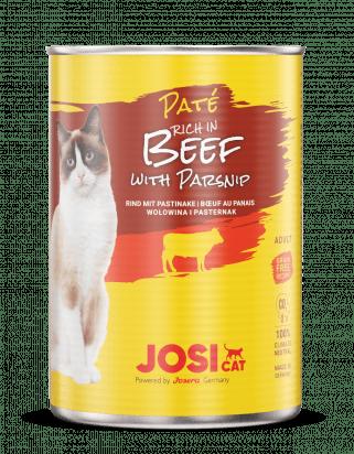 Josicat pasteet loomaliha ja pastinaagiga kassidele