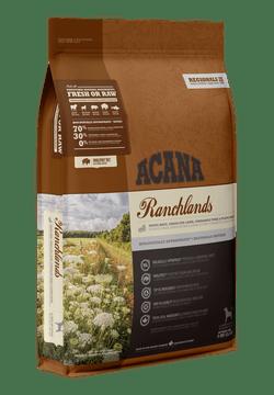 Acana Ranchlands täissööt punase lihaga igat tõugu ja igas vanuses koertele