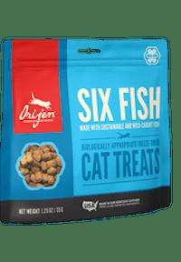 ORIJEN Cat 6 Fish Freeze- Dry Treat külmkuivatatud täiendsööt kassile.