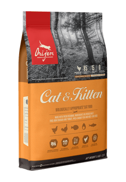 Orijen Cat & Kitten täissööt emaste kassile ja tema kassipoegadele