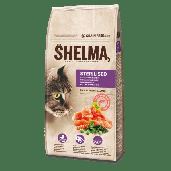 Šhelma teraviljavaba täissööt värske lõhega steriliseeritud kassidele