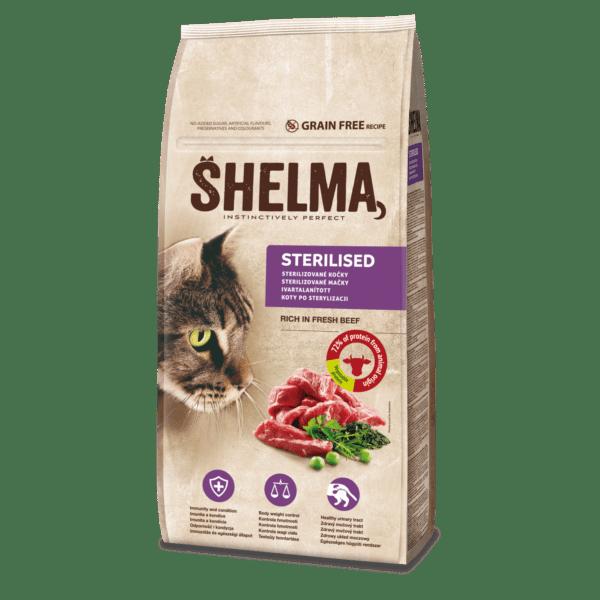 Šhelma teraviljavaba täissööt värske loomalihaga steriliseeritud kassidele