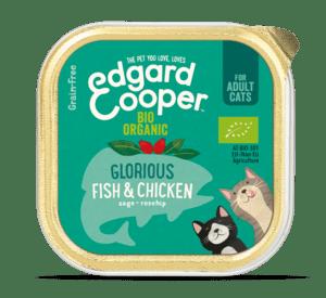 Edgard Cooper konserv kassidele orgaanilise lõhe ja kanalihaga 85g