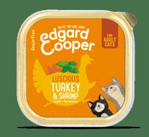 Edgard Cooper konserv kassidele kalkuniliha ja krevettidega 85g